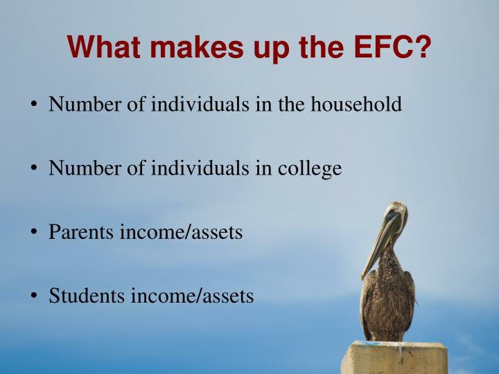 What makes up the EFC?