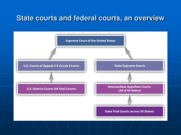 State courts and federal courts an overview