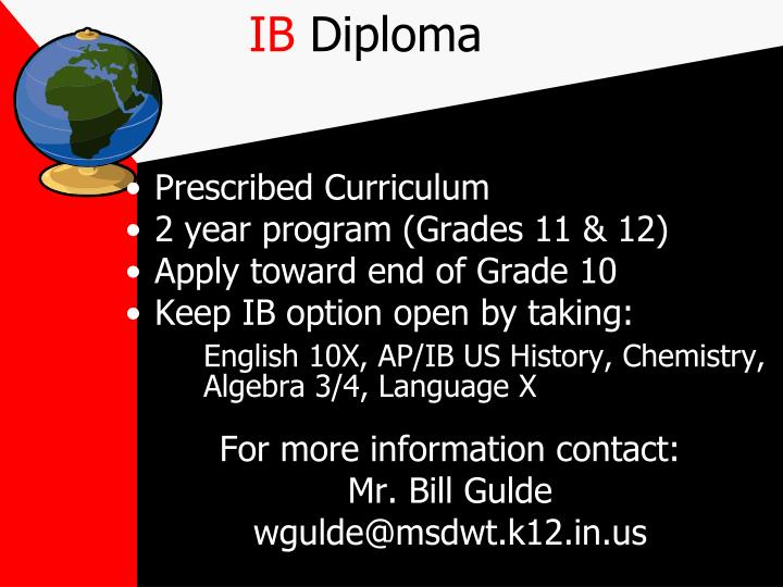 Prescribed Curriculum