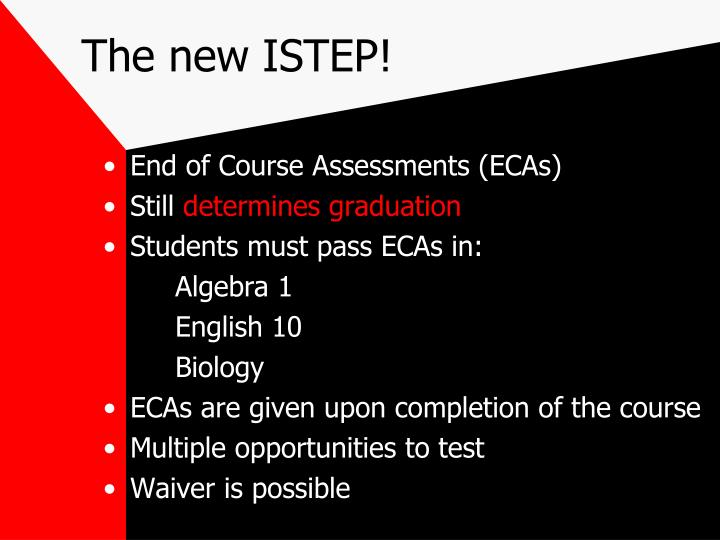 The new ISTEP!