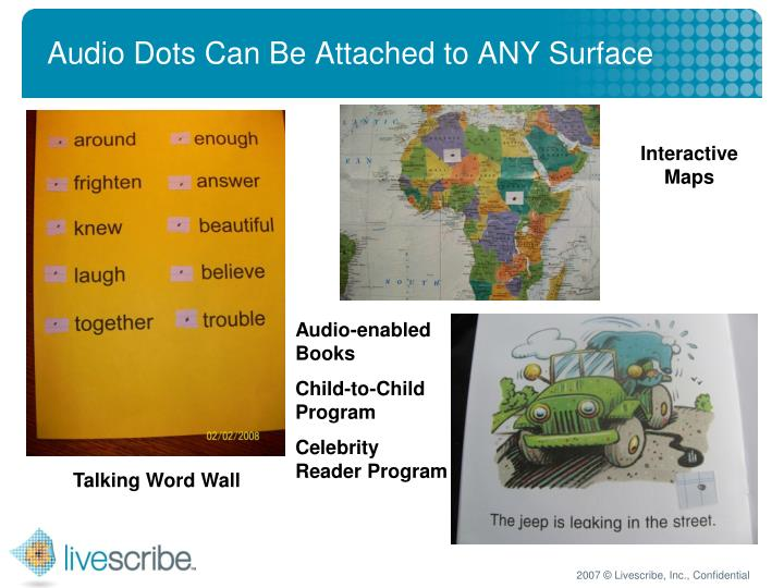Audio Dots Can Be Attached to ANY Surface