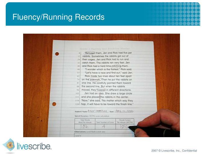 Fluency/Running Records