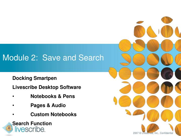 Module 2:  Save and Search