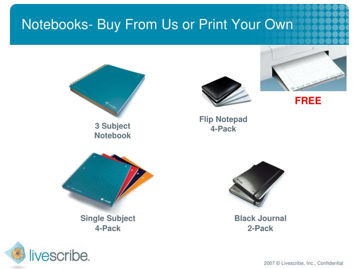 Notebooks- Buy From Us or Print Your Own