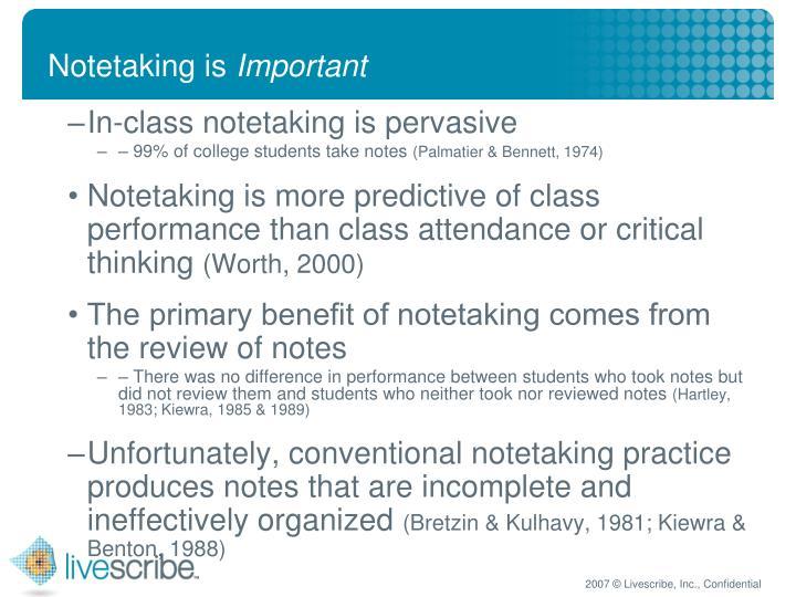 Notetaking is