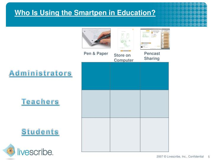 Who Is Using the Smartpen in Education?
