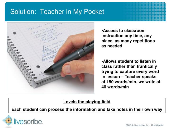 Solution:  Teacher in My Pocket