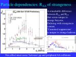 particle dependencies r aa of strangeness