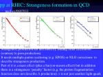 pp at rhic strangeness formation in qcd