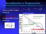 recombination vs fragmentation a different hadronization mechanism in medium than in vacuum