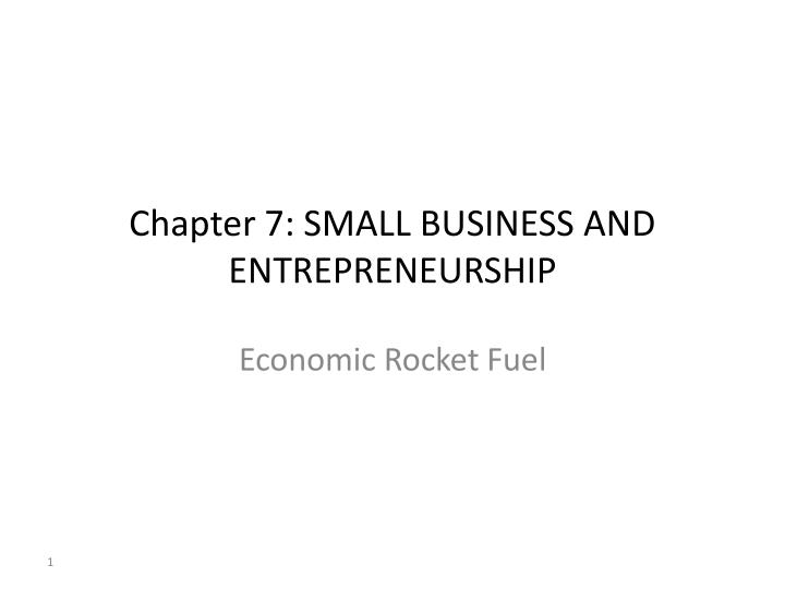 chapter 7 small business and entrepreneurship n.