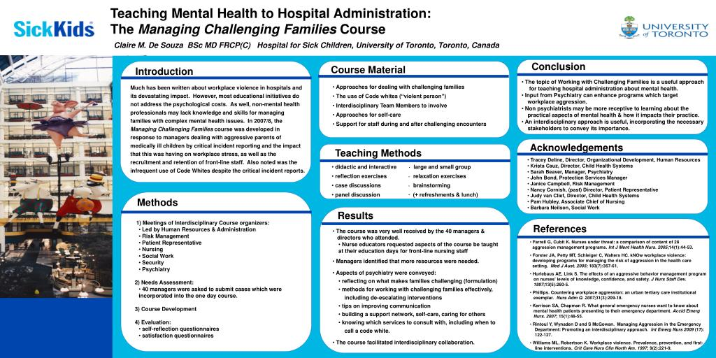 PPT - Teaching Mental Health to Hospital Administration: The