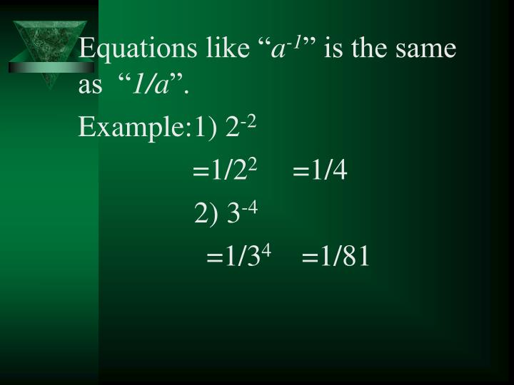 "Equations like """