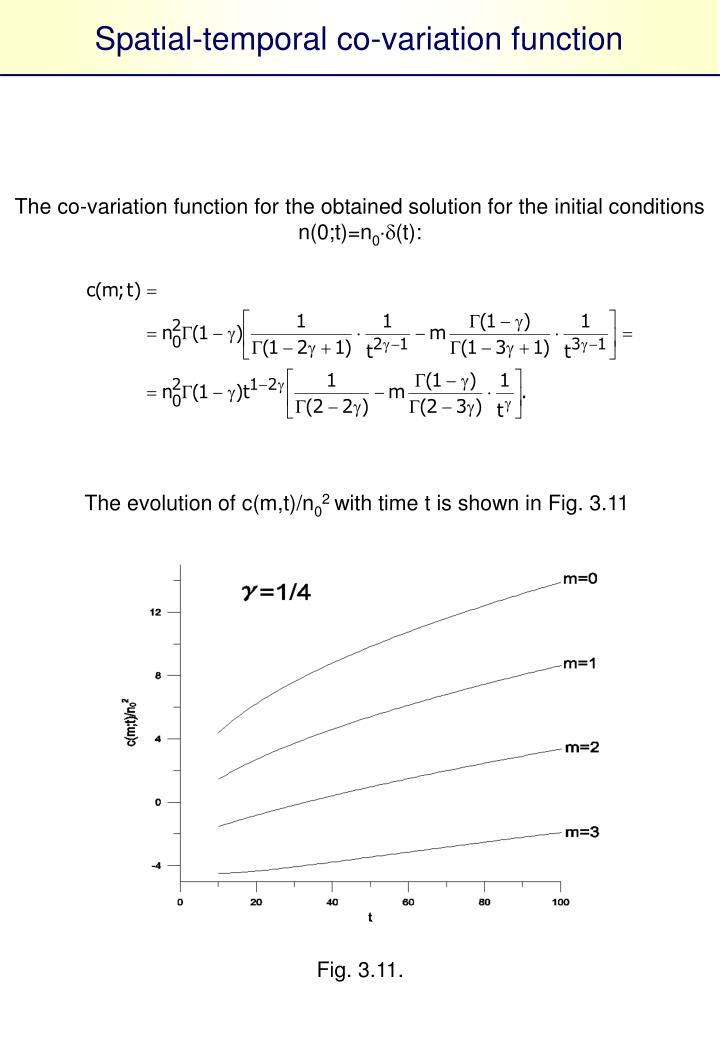 Spatial-temporal co-variation function