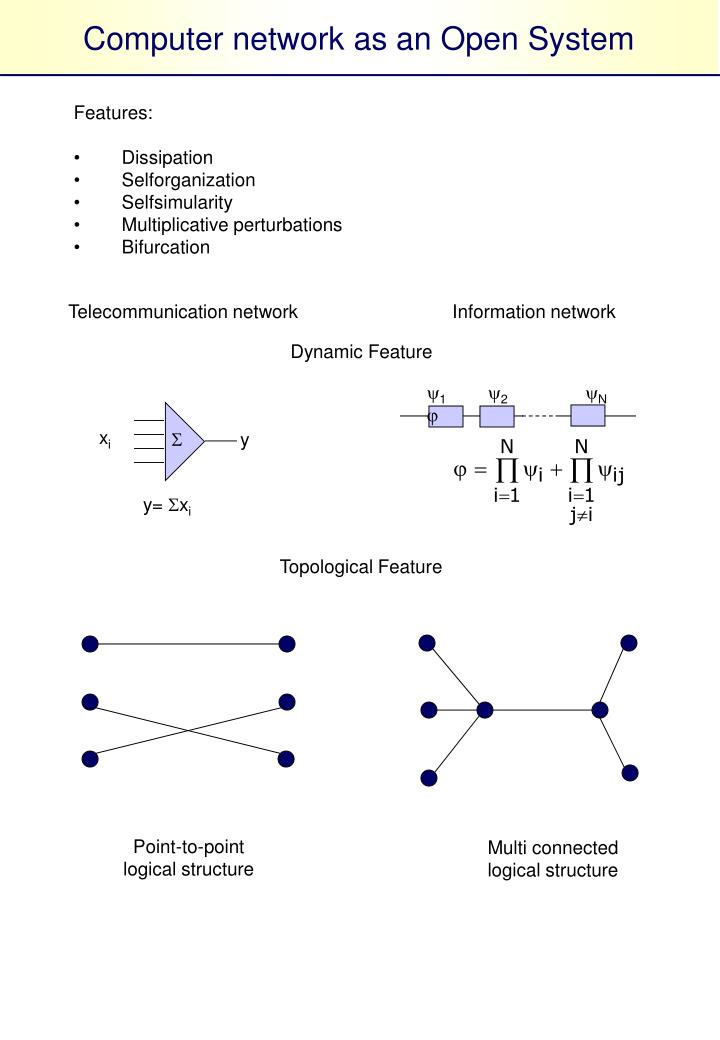 Computer network as an Open System