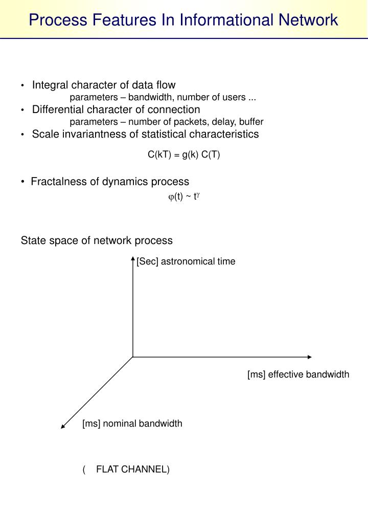 Process Features In Informational Network