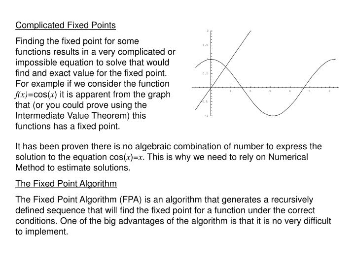 Complicated Fixed Points