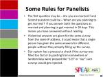 some rules for panelists1