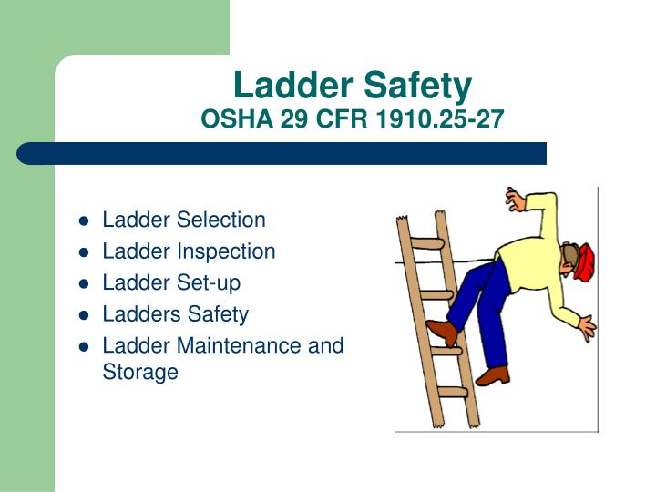 Ladder Safety Ppt Osha Image Collections Norahbennett