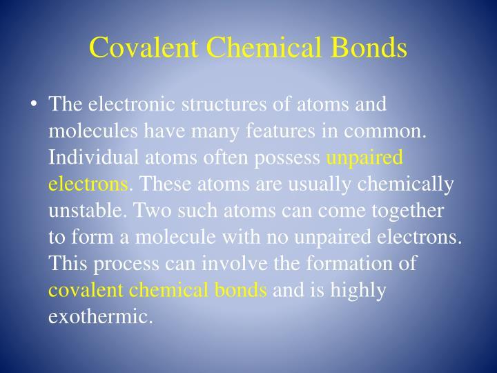 Covalent Chemical Bonds