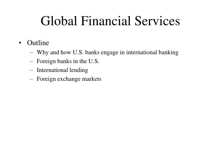 global financial services n.