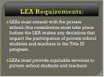 lea requirements