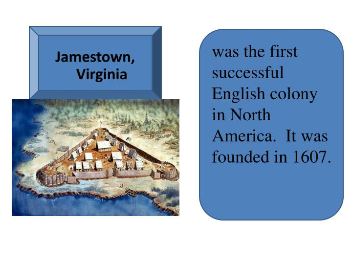 In what year was the first successful british colony in north america — pic 2