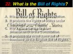 22 what is the bill of rights