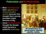 federalists and antifederalists1