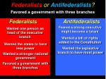 federalists or antifederalists6