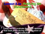 lesson 8 3a ratifying the constitution