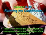 lesson 8 3b ratifying the constitution
