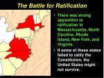 the battle for ratification