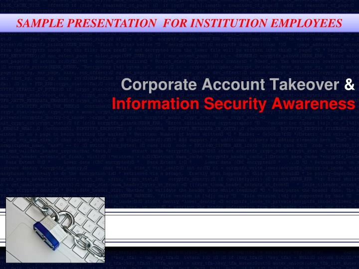corporate account takeover information security awareness n.