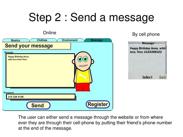 Step 2 : Send a message