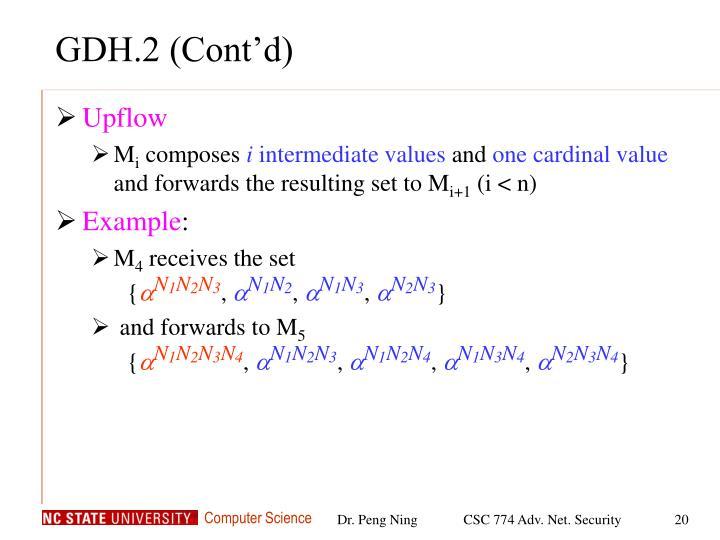 GDH.2 (Cont'd)