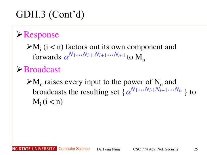 GDH.3 (Cont'd)
