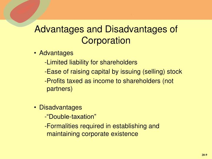Advantages and Disadvantages of Corporation