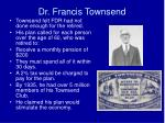 dr francis townsend