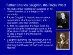 father charles coughlin the radio priest