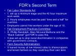 fdr s second term