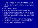 the three r s of the new deal