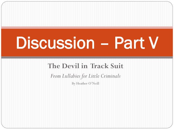 discussion part v n.
