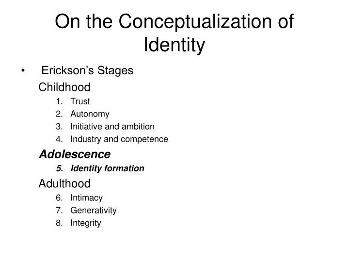 On the conceptualization of identity