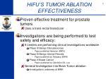 hifu s tumor ablation effectiveness