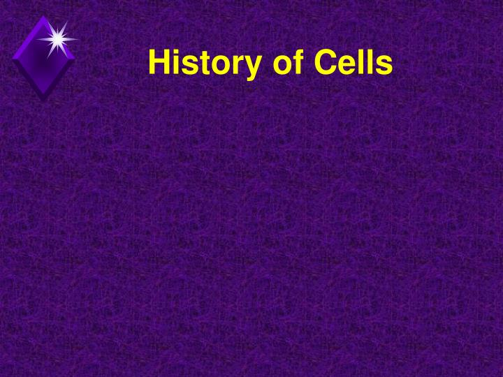 History of Cells