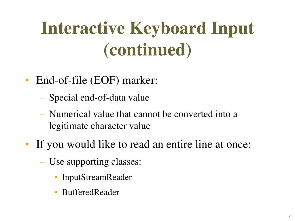 PPT - Chapter 4: Input and Formatting Class Methods PowerPoint