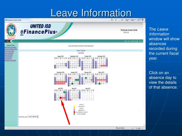 Leave Information