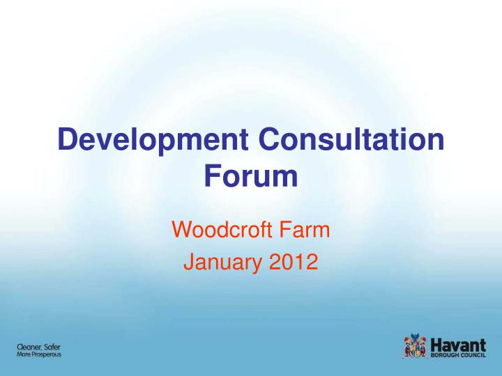 development consultation forum n.