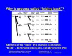 why is process called folding back